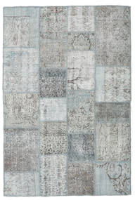 Patchwork Rug 138X206 Authentic  Modern Handknotted Light Grey (Wool, Turkey)