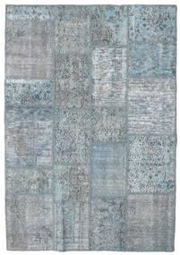Patchwork Rug 139X202 Authentic  Modern Handknotted Light Blue/Light Grey (Wool, Turkey)
