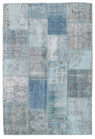 Patchwork Rug 137X204 Authentic  Modern Handknotted Light Blue/Light Grey (Wool, Turkey)
