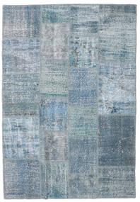 パッチワーク 絨毯 139X201 モダン 手織り 水色/青 (ウール, トルコ)