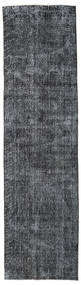 Colored Vintage Rug 80X298 Authentic  Modern Handknotted Hallway Runner  Dark Grey/Dark Blue (Wool, Turkey)
