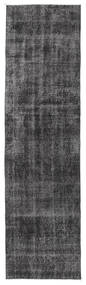 Colored Vintage Rug 80X297 Authentic  Modern Handknotted Hallway Runner  Dark Grey/Light Grey (Wool, Turkey)