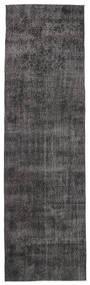 Colored Vintage Teppich  91X312 Echter Moderner Handgeknüpfter Läufer Dunkelbraun/Dunkelgrau (Wolle, Türkei)