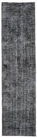 Colored Vintage Rug 90X353 Authentic  Modern Handknotted Hallway Runner  Dark Grey/Purple/Black (Wool, Turkey)