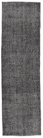 Colored Vintage Rug 81X280 Authentic  Modern Handknotted Hallway Runner  Dark Grey/Black (Wool, Turkey)