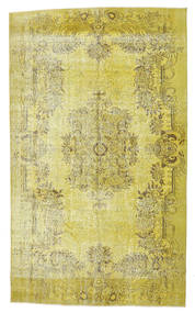 Colored Vintage Rug 165X276 Authentic  Modern Handknotted Yellow/Olive Green (Wool, Turkey)