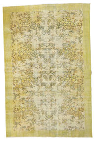 Colored Vintage Rug 160X241 Authentic  Modern Handknotted Yellow/Light Green (Wool, Turkey)