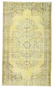 Colored Vintage Rug 153X261 Authentic  Modern Handknotted Yellow/Light Green (Wool, Turkey)