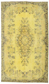 Colored Vintage Rug 162X282 Authentic  Modern Handknotted Yellow/Olive Green (Wool, Turkey)