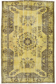 Colored Vintage Rug 167X256 Authentic  Modern Handknotted Yellow/Olive Green (Wool, Turkey)