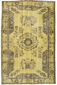 Colored Vintage Matto 167X256 Moderni Käsinsolmittu Keltainen/Oliivinvihreä (Villa, Turkki)