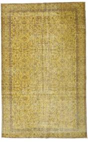 Colored Vintage Teppe 167X264 Ekte Moderne Håndknyttet Olivengrønn/Gul (Ull, Tyrkia)