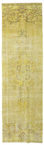 Colored Vintage Rug 81X277 Authentic  Modern Handknotted Hallway Runner  Yellow/Olive Green (Wool, Turkey)