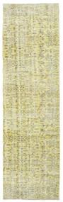 Colored Vintage Rug 81X280 Authentic  Modern Handknotted Hallway Runner  Dark Beige/Light Green/Beige/Yellow (Wool, Turkey)