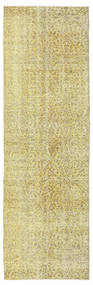 Colored Vintage Rug 91X289 Authentic  Modern Handknotted Hallway Runner  Yellow/Light Green (Wool, Turkey)