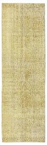 カラード ヴィンテージ 絨毯 91X289 モダン 手織り 廊下 カーペット ライトグリーン/ベージュ (ウール, トルコ)