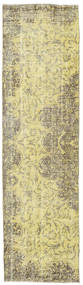 カラード ヴィンテージ 絨毯 81X295 モダン 手織り 廊下 カーペット ライトグリーン/黄色 (ウール, トルコ)