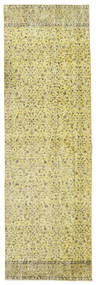 Colored Vintage Rug 80X260 Authentic  Modern Handknotted Hallway Runner  Light Green/Yellow (Wool, Turkey)