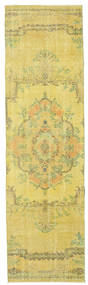 Colored Vintage Rug 81X289 Authentic  Modern Handknotted Hallway Runner  Yellow/Light Green (Wool, Turkey)
