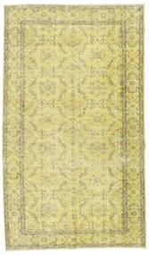 Colored Vintage Tapis 157X270 Moderne Fait Main Jaune/Vert Clair (Laine, Turquie)