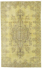 Colored Vintage Rug 163X272 Authentic  Modern Handknotted Yellow/Light Green/Olive Green (Wool, Turkey)