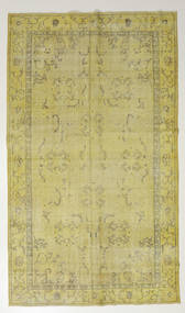 Colored Vintage Rug 167X286 Authentic  Modern Handknotted Light Green/Olive Green (Wool, Turkey)