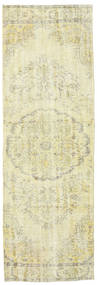 Colored Vintage Rug 93X287 Authentic  Modern Handknotted Hallway Runner  Beige/Dark Beige (Wool, Turkey)