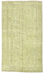 Colored Vintage Rug 140X247 Authentic  Modern Handknotted Light Green/Dark Beige (Wool, Turkey)
