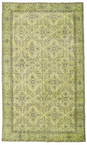 Colored Vintage Rug 185X311 Authentic  Modern Handknotted Light Green/Olive Green (Wool, Turkey)