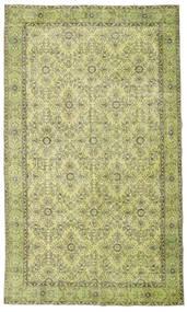 Colored Vintage Tapete 185X311 Moderno Feito A Mão Verde Claro/Verde Azeitona (Lã, Turquia)