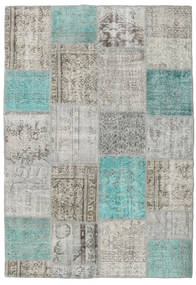 Patchwork Rug 160X230 Authentic  Modern Handknotted Light Grey/Dark Grey (Wool, Turkey)