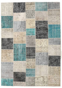 Patchwork Rug 252X354 Authentic  Modern Handknotted Light Grey/Dark Grey Large (Wool, Turkey)