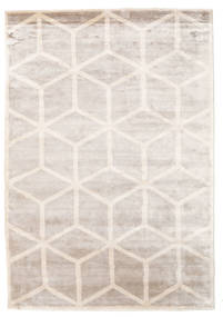 Facets Rug 250X350 Authentic  Modern Handknotted White/Creme/Light Grey Large ( India)