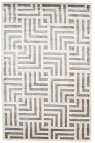 Maze Rug 250X350 Authentic  Modern Handknotted Light Grey/White/Creme Large ( India)
