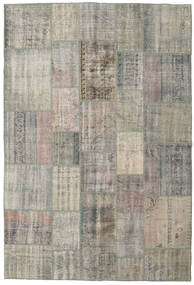Patchwork Rug 205X304 Authentic  Modern Handknotted Light Grey/Light Brown (Wool, Turkey)