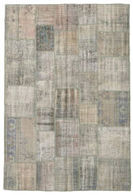 Patchwork Rug 205X302 Authentic  Modern Handknotted Light Grey/Light Brown (Wool, Turkey)