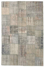 Patchwork Rug 197X300 Authentic  Modern Handknotted Light Grey/Light Brown (Wool, Turkey)