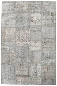Patchwork Rug 197X302 Authentic  Modern Handknotted Light Grey (Wool, Turkey)