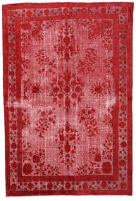 Colored Vintage Relief Rug 220X322 Authentic  Modern Handknotted Crimson Red/Pink (Wool, Turkey)