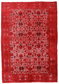 Colored Vintage Relief Rug 216X314 Authentic  Modern Handknotted Rust Red/Pink (Wool, Turkey)