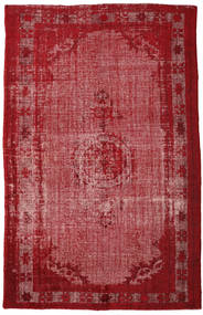 Colored Vintage Relief Rug 208X326 Authentic  Modern Handknotted Dark Red/Rust Red (Wool, Turkey)
