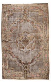 Colored Vintage Relief Rug 161X260 Authentic  Modern Handknotted Light Brown/Brown (Wool, Turkey)