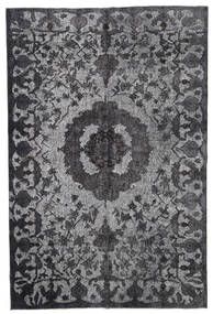 Colored Vintage Relief Rug 191X288 Authentic  Modern Handknotted Dark Grey/Light Grey (Wool, Turkey)