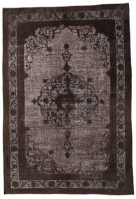 Colored Vintage Relief Rug 226X335 Authentic  Modern Handknotted Dark Brown/Brown (Wool, Turkey)
