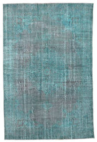 Colored Vintage Rug 210X318 Authentic  Modern Handknotted Dark Turquoise  /Blue/Turquoise Blue (Wool, Turkey)