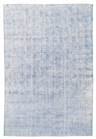 Colored Vintage Rug 212X317 Authentic  Modern Handknotted Light Blue/White/Creme (Wool, Turkey)