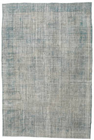 Colored Vintage Rug 212X310 Authentic  Modern Handknotted Light Grey/Dark Grey (Wool, Turkey)