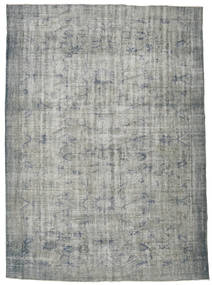 Colored Vintage Rug 218X298 Authentic  Modern Handknotted Light Grey/Dark Grey/Turquoise Blue (Wool, Turkey)