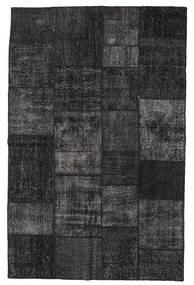 Patchwork Teppich  196X304 Echter Moderner Handgeknüpfter Schwartz/Dunkelgrau (Wolle, Türkei)