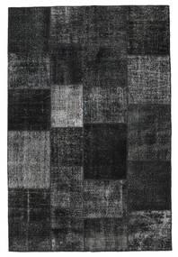 Patchwork Rug 198X300 Authentic  Modern Handknotted Black/Dark Grey (Wool, Turkey)